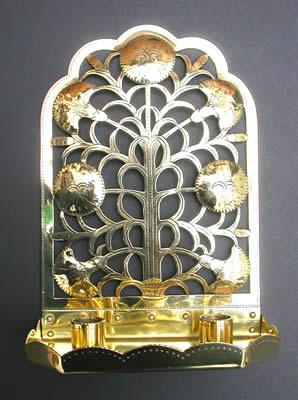 Arts crafts design ernest gimson carnation candle sconce for Arts and crafts candle sconces