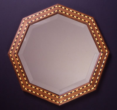 Inlaid Octagonal Mirror